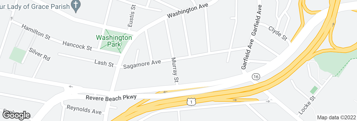 Map of Sagamore Ave @ Murray St and surrounding area