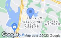 Map of Waltham, MA