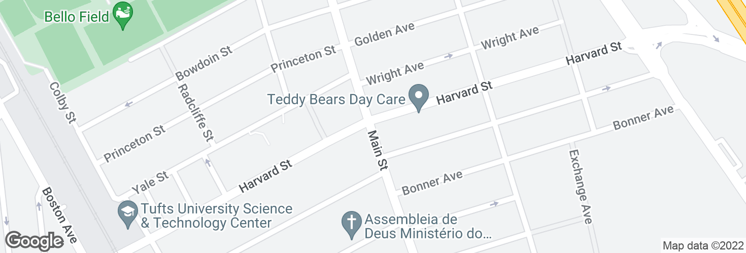 Map of Main St @ Harvard St and surrounding area