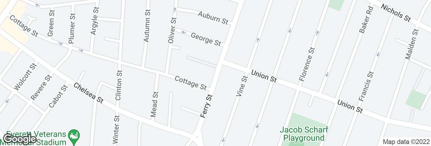 Map of Ferry St @ Orange St and surrounding area
