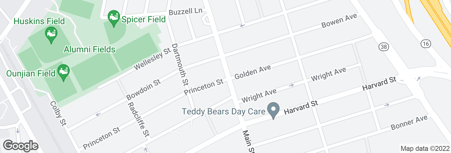 Map of Main St @ Princeton St and surrounding area