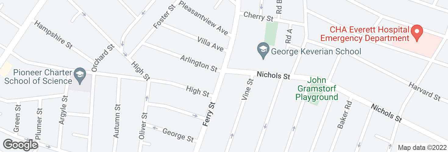 Map of Ferry St @ Nichols St and surrounding area