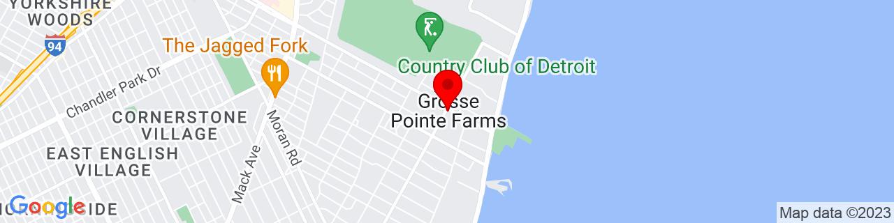 Google Map of 42.409166666666664, -82.89194444444445