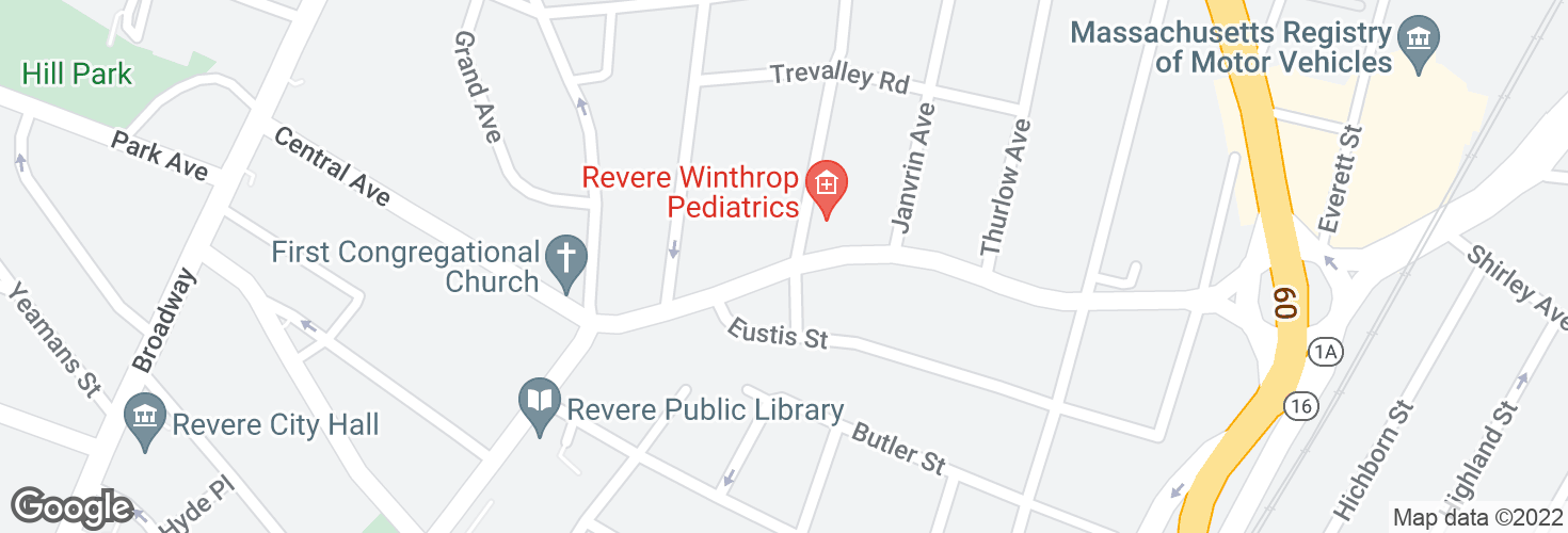 Map of Beach St @ Cary Ave and surrounding area