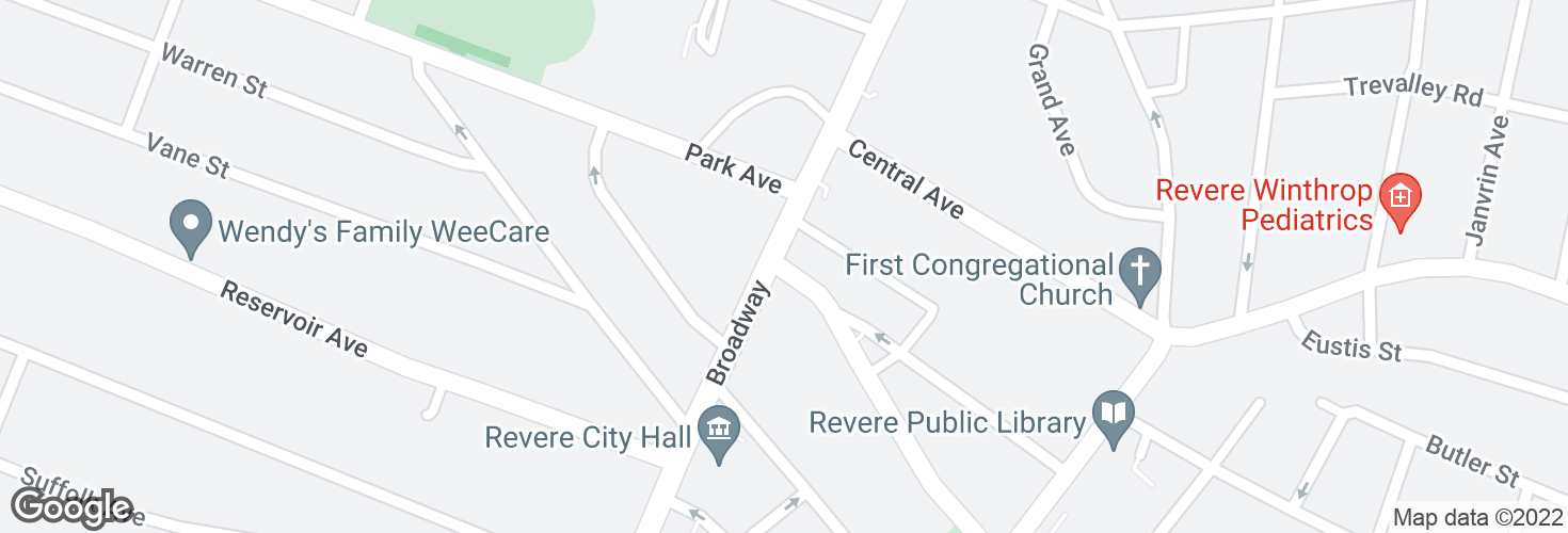 Map of Winthrop Ave @ Broadway and surrounding area