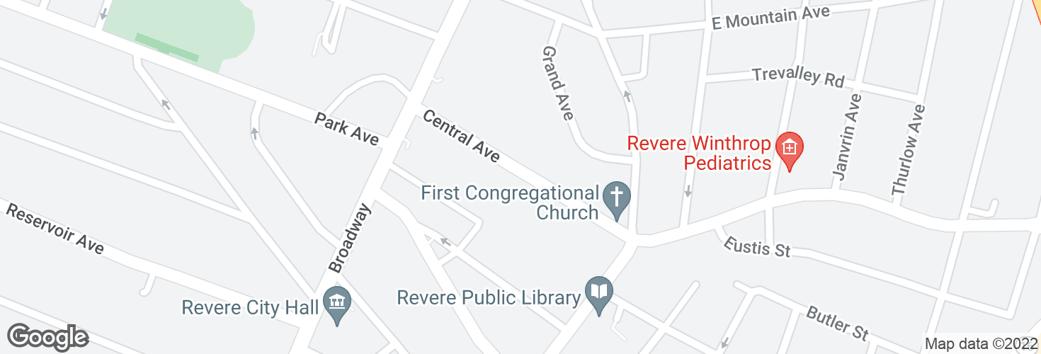 Map of 49 Central Ave and surrounding area