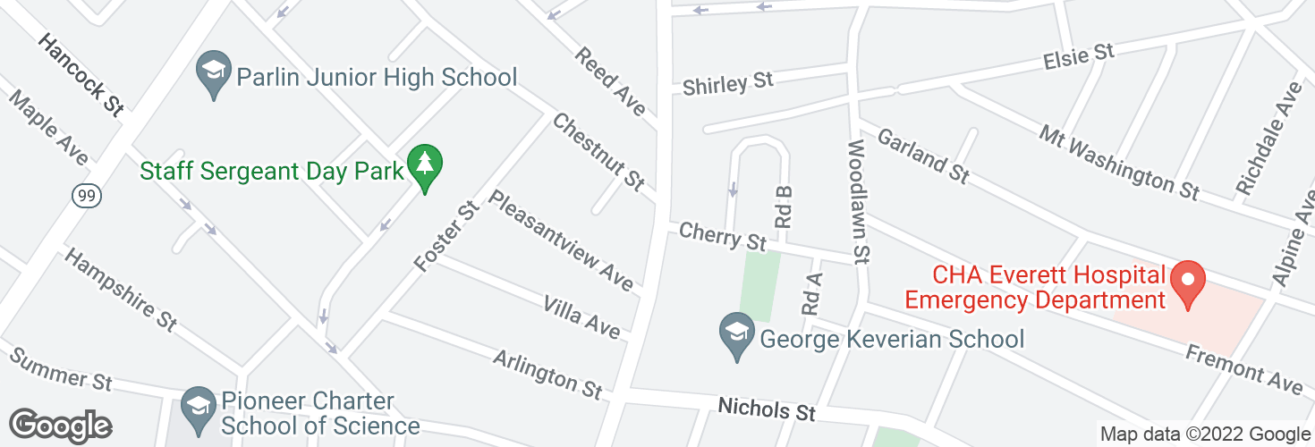 Map of Ferry St @ Chestnut St and surrounding area