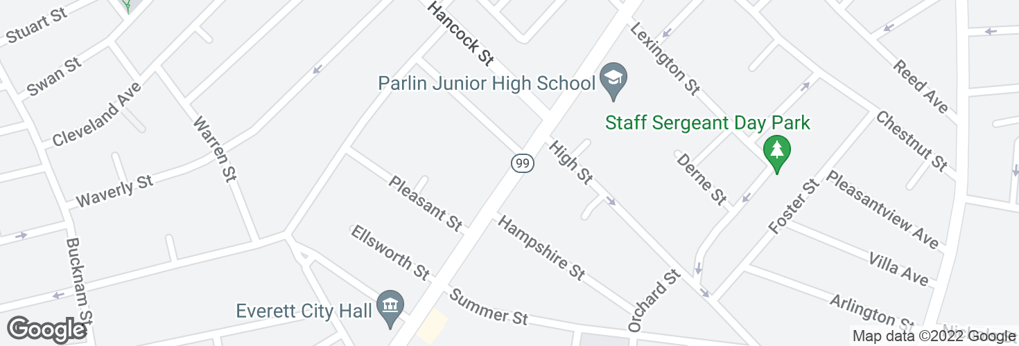 Map of Broadway @ Maple Ave and surrounding area