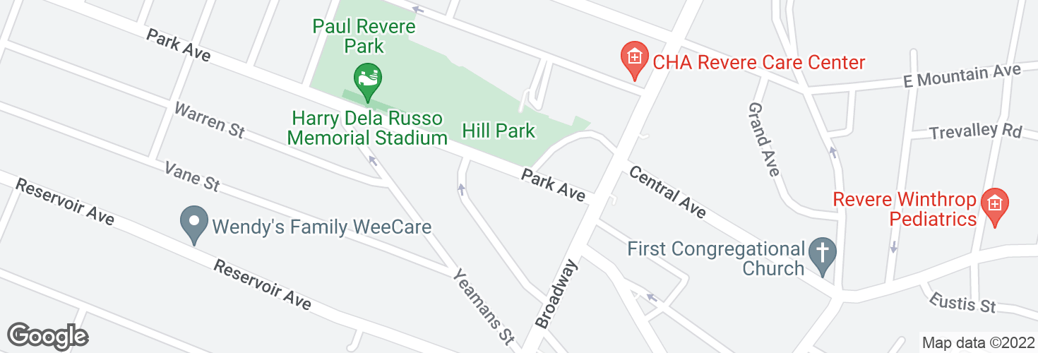 Map of 40 Park Ave and surrounding area