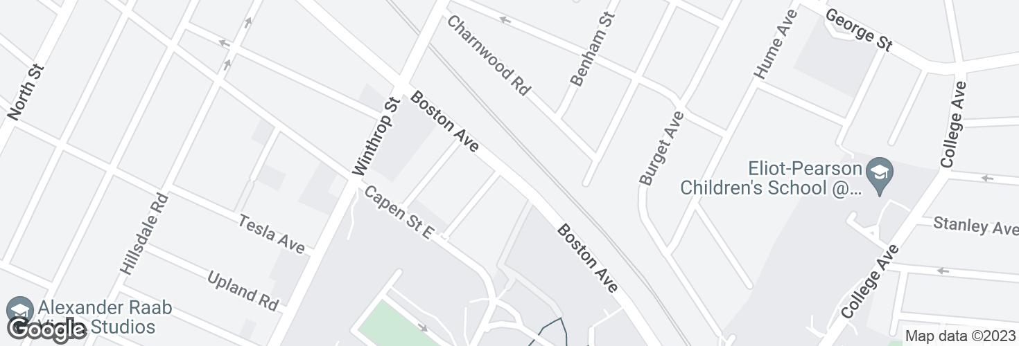 Map of 372 Boston Ave opp Fairmount St and surrounding area