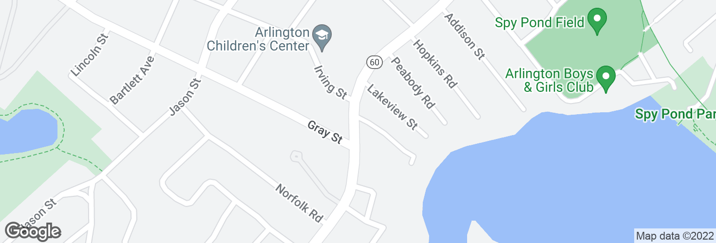 Map of Pleasant St @ Spring Valley Rd and surrounding area