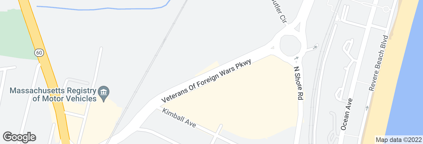 Map of VFW Pkwy opp Wonderland Market Place and surrounding area