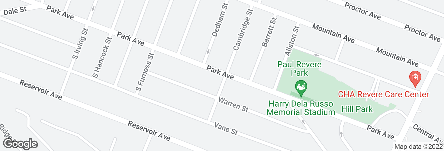Map of Park Ave @ S Cambridge St and surrounding area