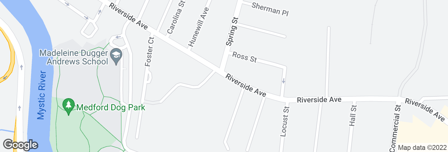 Map of Riverside Ave @ Light Guard Dr and surrounding area