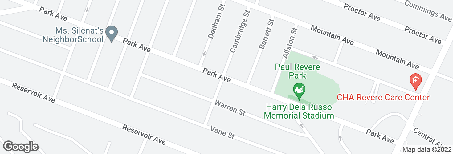 Map of Park Ave @ Cambridge St and surrounding area