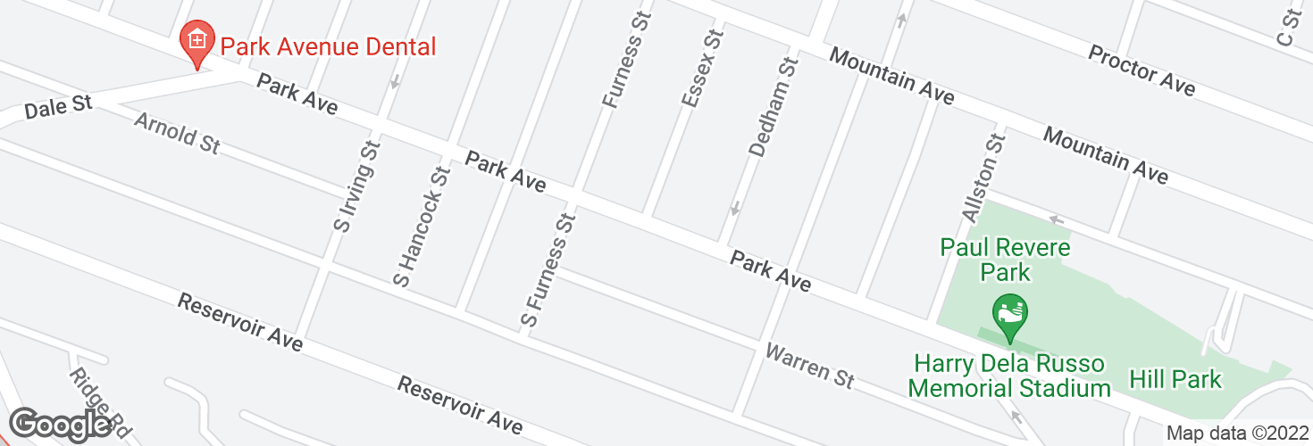 Map of Park Ave @ Essex St and surrounding area
