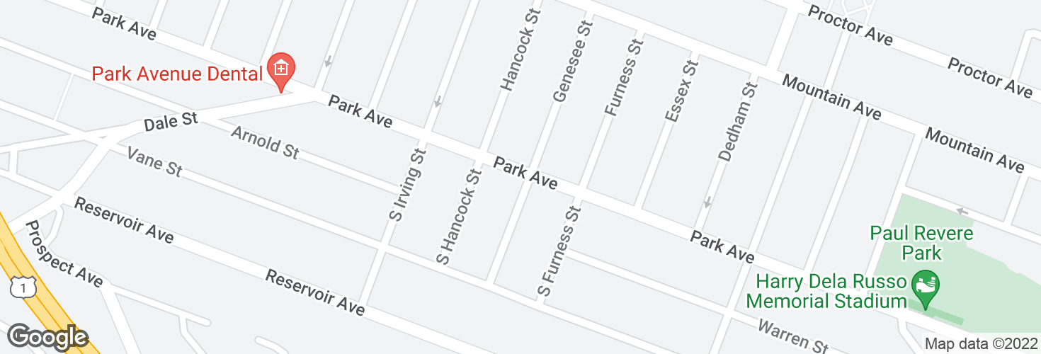 Map of Park Ave @ S Genesee St and surrounding area