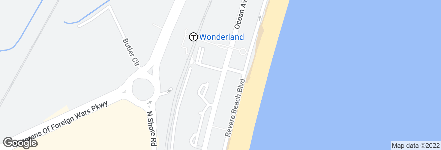 Map of Ocean Ave @ Chester Ave and surrounding area