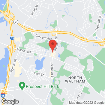 Map of Panera Bread at 1100 Lexington Street, Waltham, MA 02452