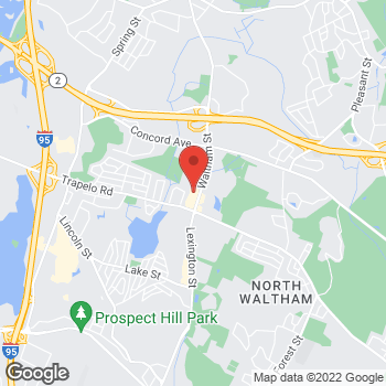 Map of Panera Bread at 1100 Lexington Street, Waltham, Massachusetts 02452