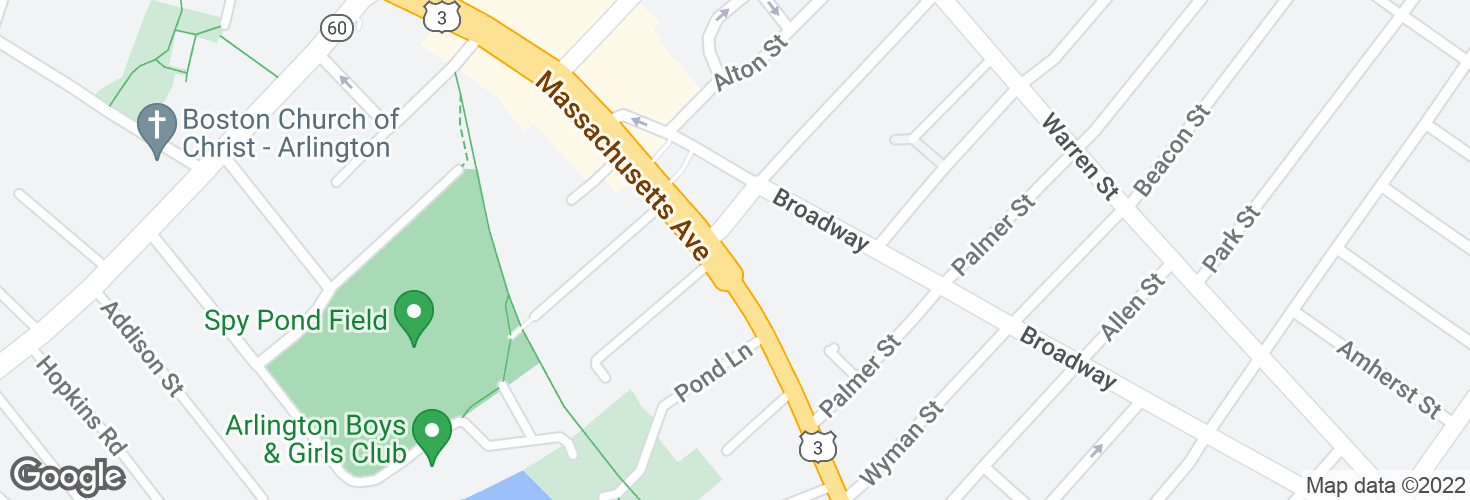 Map of Massachusetts Ave @ Franklin St and surrounding area