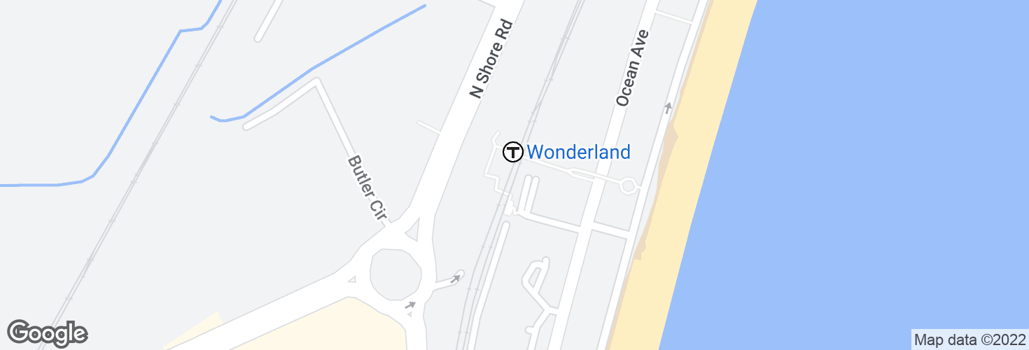 Map of Wonderland and surrounding area