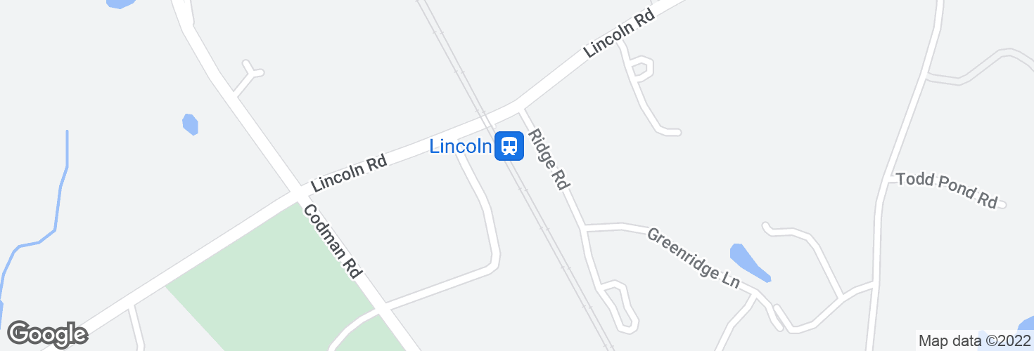 Map of Lincoln and surrounding area