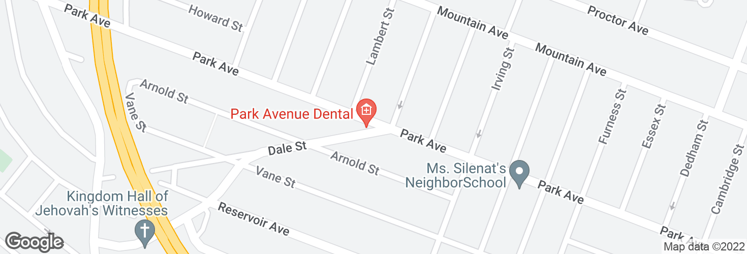 Map of Park Ave @ Dale St and surrounding area