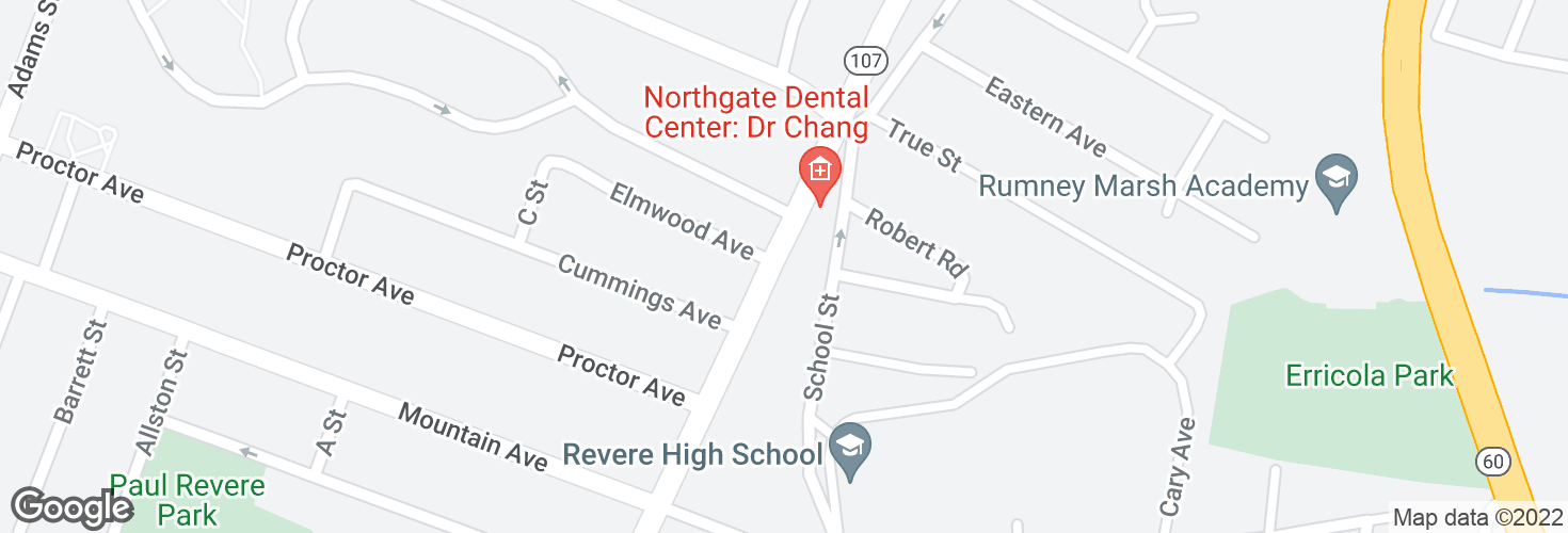 Map of Broadway opp Elmwood Ave and surrounding area