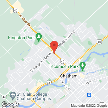 Map of Tim Hortons at 368 St Clair St, Chatham, ON N7L 3K2