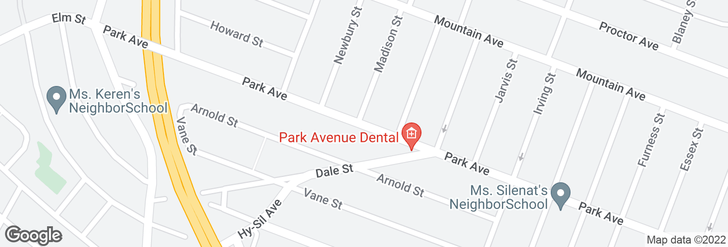 Map of Park Ave @ Lambert St and surrounding area