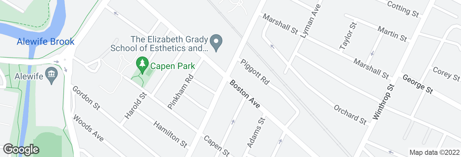 Map of Boston Ave @ North St and surrounding area