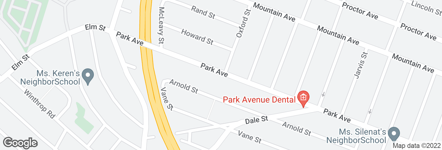 Map of 618 Park Ave and surrounding area
