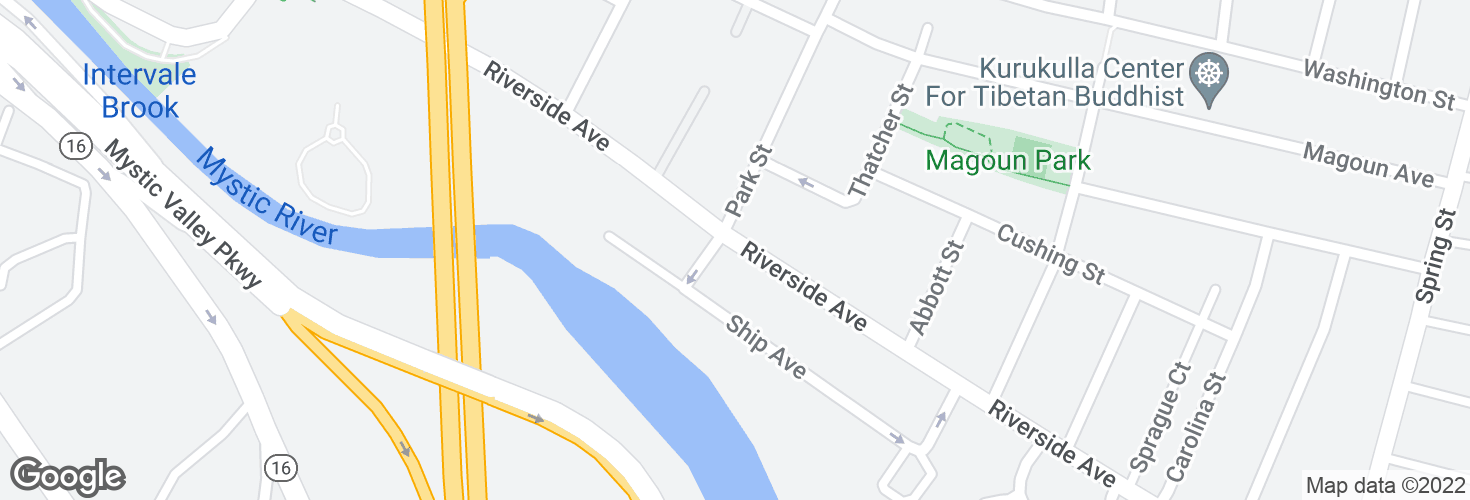 Map of Riverside Ave @ Marine St and surrounding area