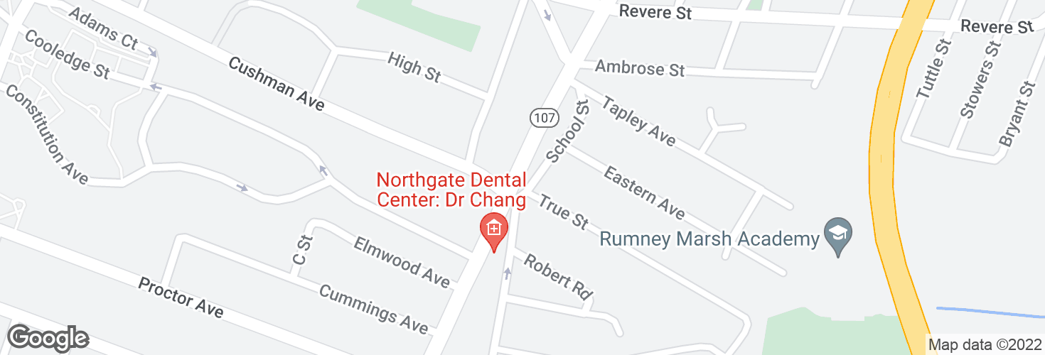 Map of Broadway @ True St and surrounding area