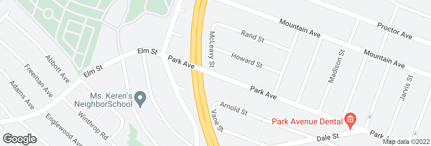 Map of Park Ave @ McLeavey St and surrounding area