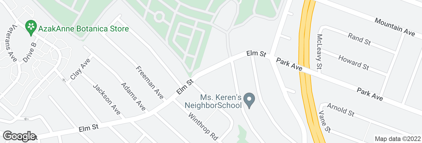 Map of 289 Elm St and surrounding area