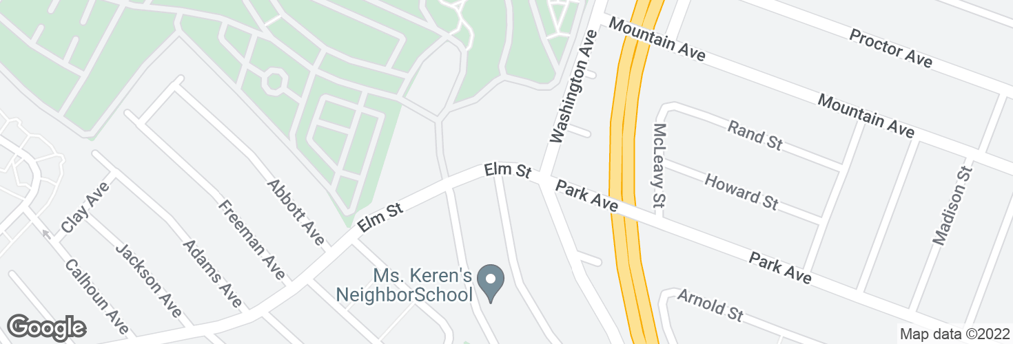 Map of Elm St @ Haskell Ave and surrounding area