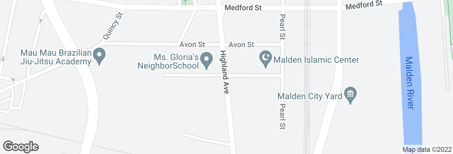 Map of 41 Highland Ave opp Devir St and surrounding area