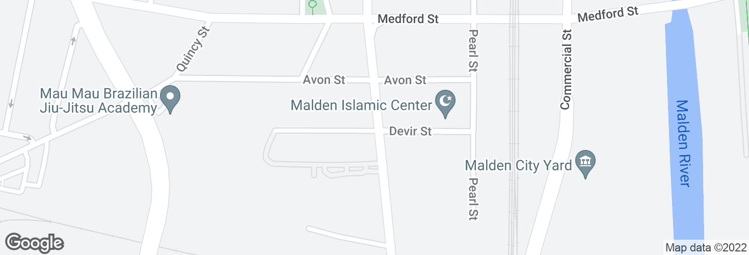 Map of Highland Ave @ Devir St and surrounding area