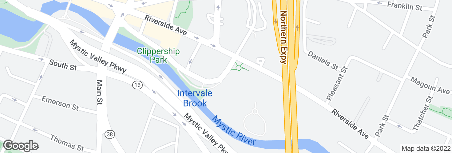 Map of Clippership Dr @ Riverside Towers and surrounding area
