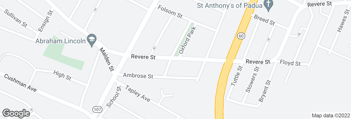 Map of Revere St @ Lee St and surrounding area