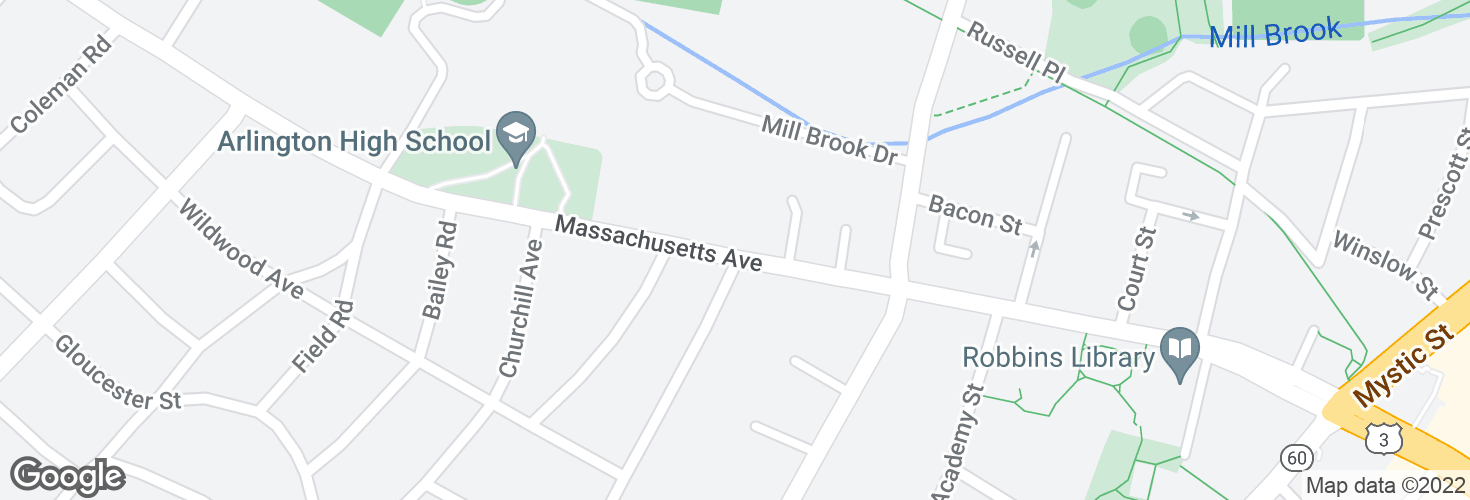 Map of Massachusetts Ave @ Willow Ct and surrounding area