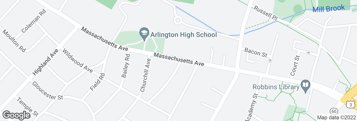 Map of Massachusetts Ave @ Newman Way and surrounding area