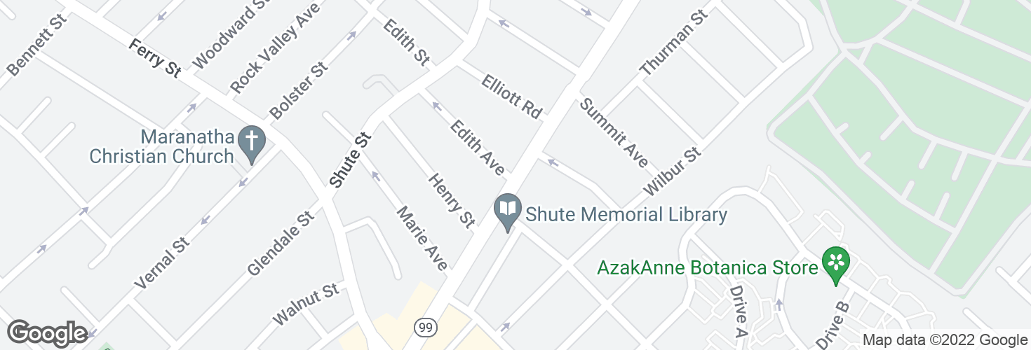 Map of Broadway @ Edith Ave and surrounding area