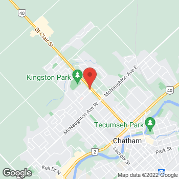 Map of Tim Hortons at 452 St Clair St, Chatham, ON N7L 3K7