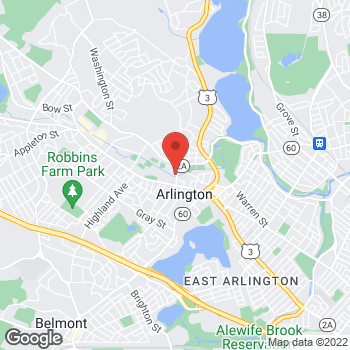 Map of Paul Burns, MD at 22 Mill Streetsuite 110, Arlington, MA 02474