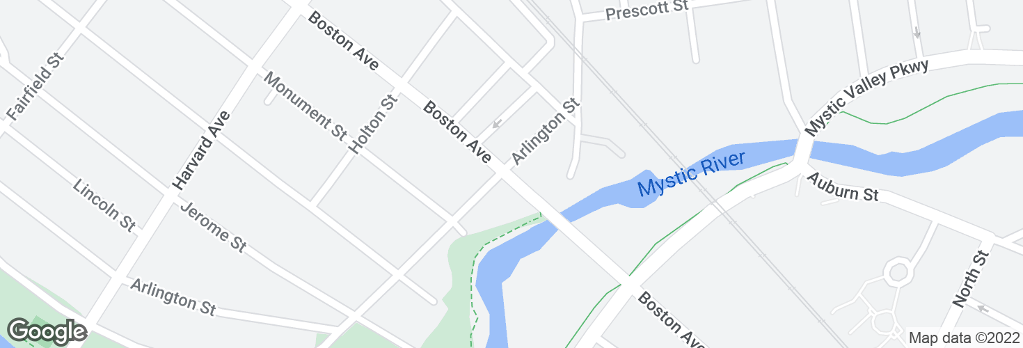 Map of Boston Ave @ Arlington St and surrounding area