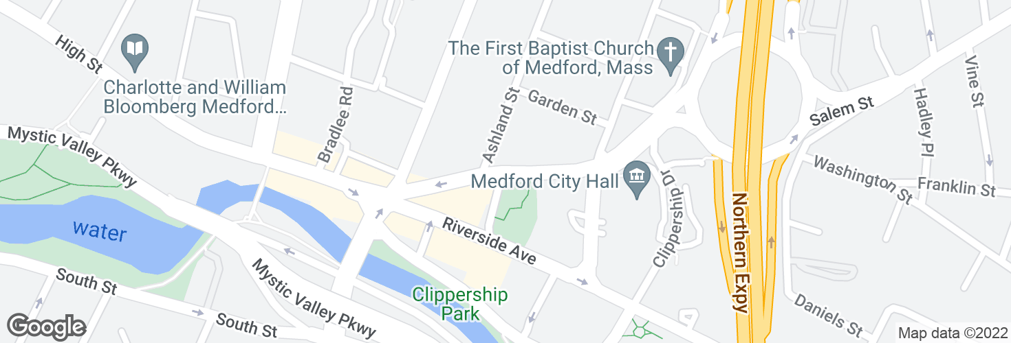 Map of Salem St opp River St and surrounding area