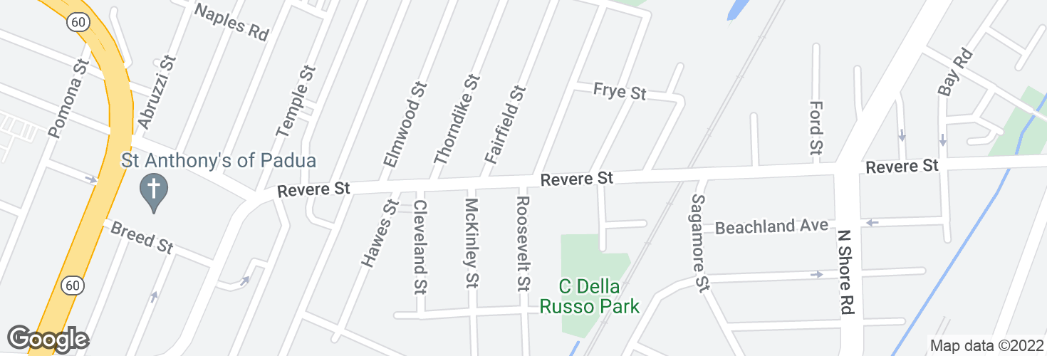 Map of Revere St @ Bosson St and surrounding area